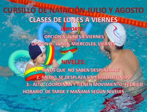 Curso de natación Verano 2018