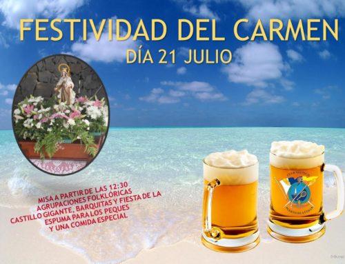 Festividad del Carmen sábado 21/07/2018