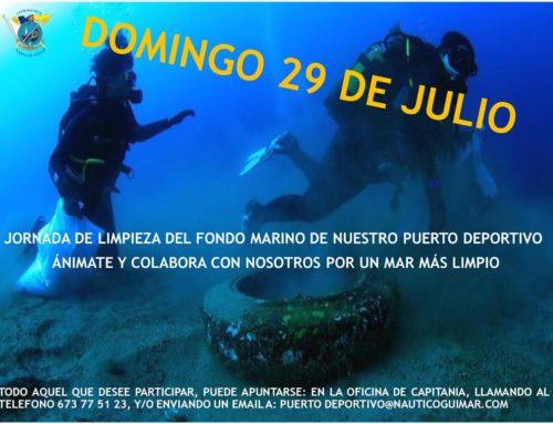 Limpieza del fondo marino Puerto Deportivo