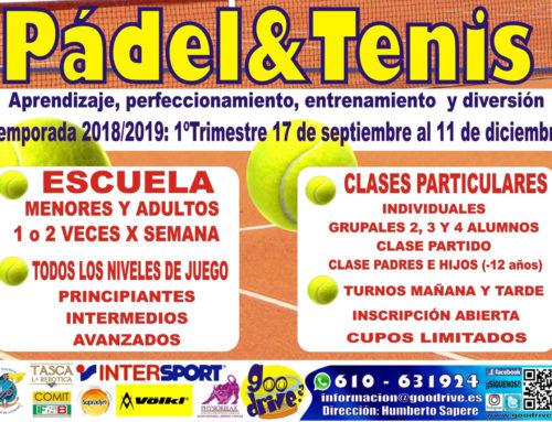 Escuela de Tenis y Pádel 2018/2019