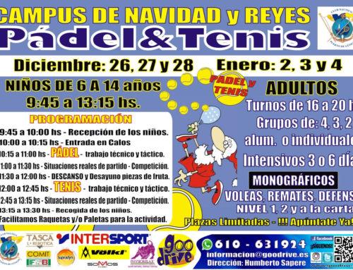 Campus de tenis y pádel de Navidad y Reyes