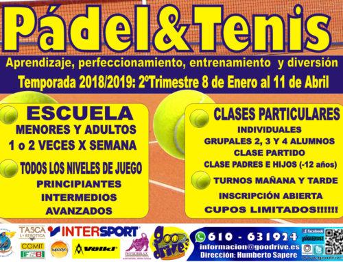 8 Enero INICIO Escuela de Tenis y Pádel del Club Náutico Puertito de Güímar