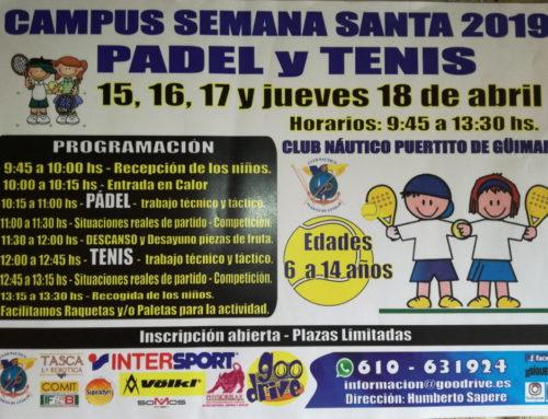 Campus de Pádel y Tenis Semana Santa