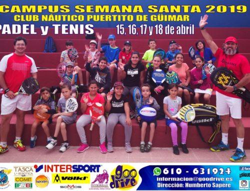Finaliza con éxito el Campus de Tenis y Pádel de Semana Santa