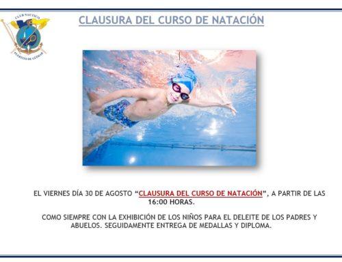Clausura del Curso de natación