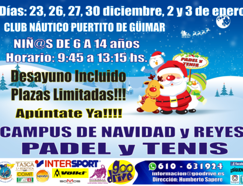 Campus de tenis y padel de Navidad