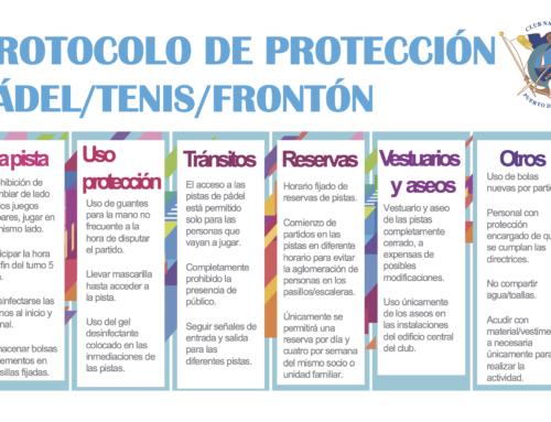 Comunicado, fichero del protocolo de protección y la Planificación Deporte