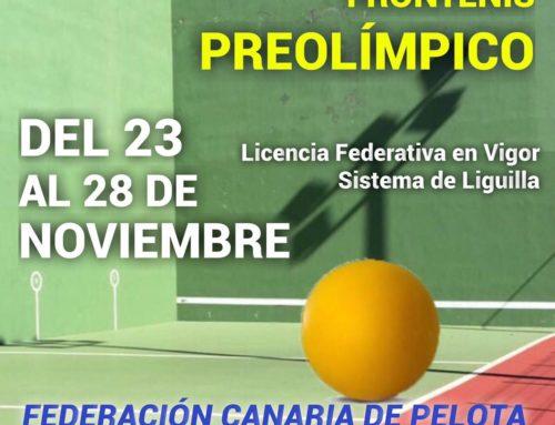 El club es sede del II Territorial Frontenis Preolímpico